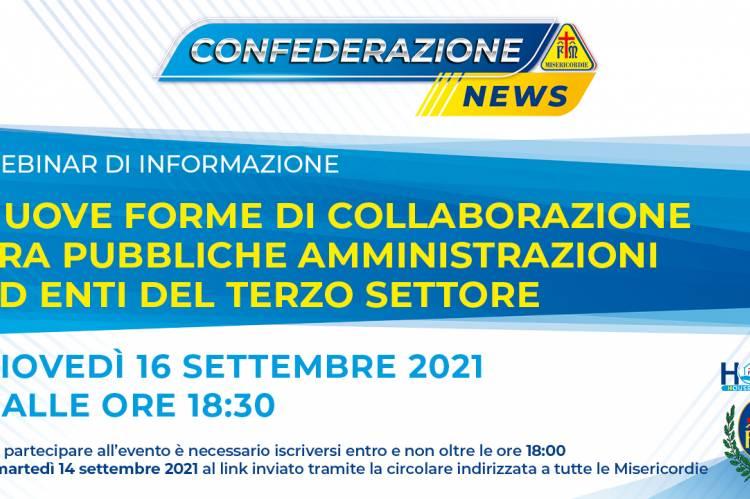 Webinar: Nuove forme di collaborazione tra pubbliche amministrazioni ed enti del terzo settore